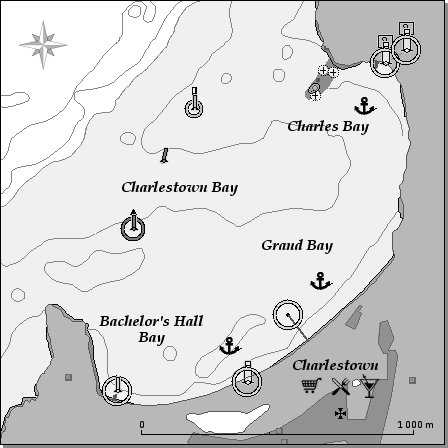 Carte Charlestown Bay Canouan Grenadines
