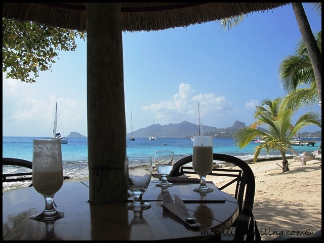 Restaurant at Palm Island and Union island