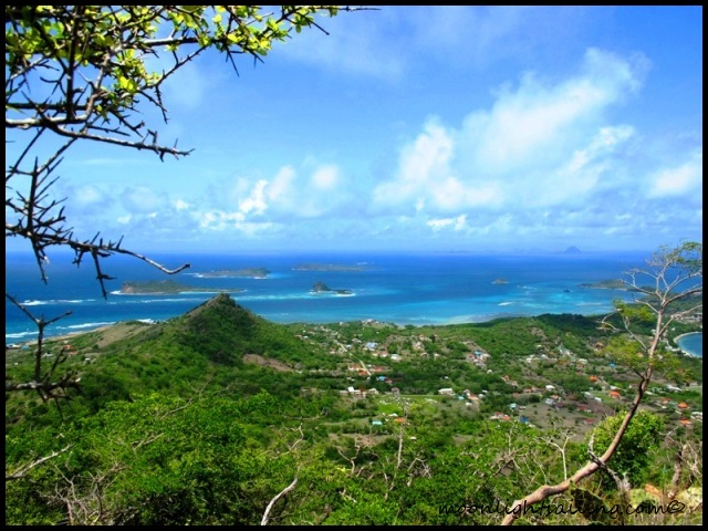 Southern Grenadines from Chapeau Carre in Carriacou